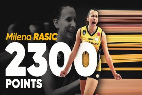 Rasic, VakıfBank'ta 2 bin 300 sayı barajını geçti