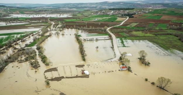 Bursa Yenişehir'i sağanak vurdu!  35 Bin dönüm tarım arazisi sular altında