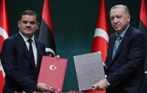 Libya Millî Birlik Hükûmeti Başbakanı Abdülhamid Dibeyb, Ankara'da