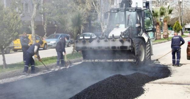 Mudanya'da yol yapım atağı