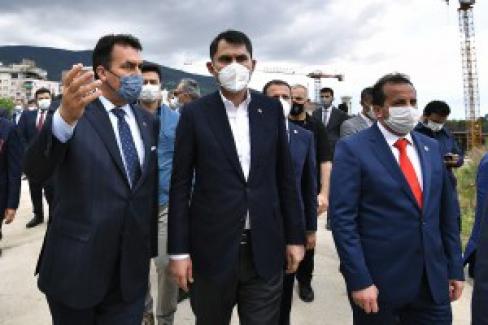 Çevre ve Şehircilik Bakanı Murat Kurum Bursa'da