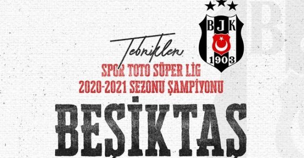 Cumhurbaşkanı Erdoğan, Beşiktaş'ı şampiyonluğu nedeniyle tebrik etti