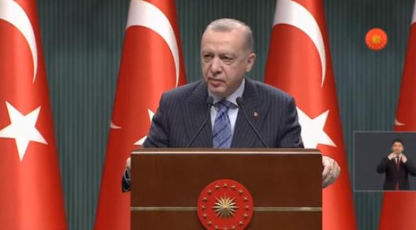 """Cumhurbaşkanı Erdoğan: """"Esnafa 3 bin ve 5 binliralık hibe ödemeleri yapacağız"""""""