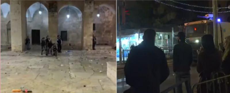 İsrail polisi Mescid-i Aksa'ya girerek cemaate bombalarla saldırdı