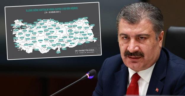Sağlık Bakanı Fahrettin Koca il il vaka sayılarını açıkladı: İstanbul zirvede