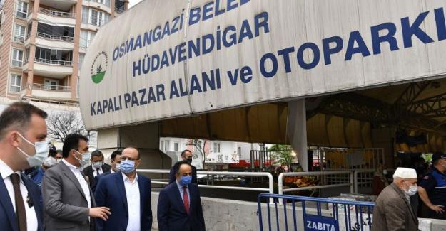 Vali, Kaymakam ve Belediye Başkanı Pazarları Denetledi