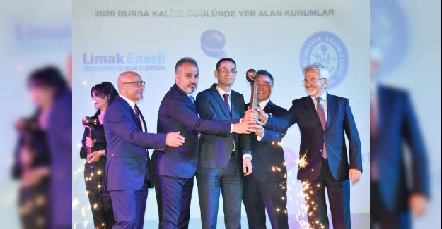 Bursa'nın 'Kalite Büyük Ödülü'ne LİMAK ENERJİ layık görüldü