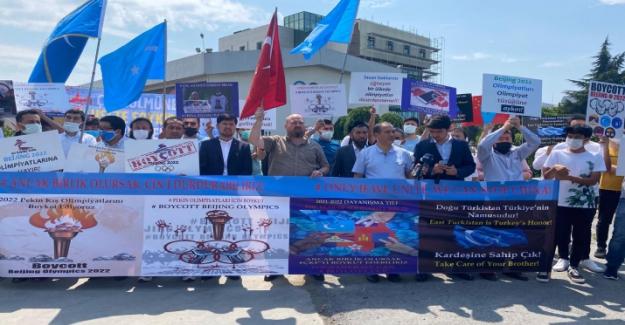 """Doğu Türkistan Sivil Toplum Kuruluşlarından dünya çapında protesto: """"2022 Pekin Olimpiyatlarına hayır!"""""""