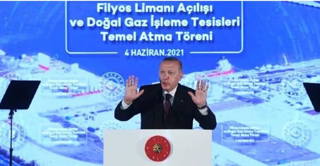 """Erdoğan müjde'yi açıkladı: """"Amasra-1 kuyusunda 135 milyar metreküplük doğalgaz keşfedildi"""""""