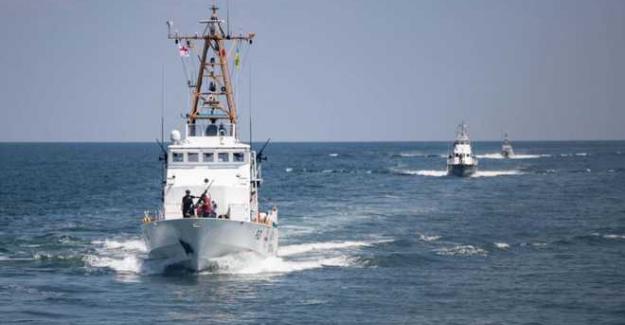 """Karadeniz'de 6 kıtadan 32 ülkenin katıldığı """"Sea Breeze 2021 Tatbikatı"""" başladı"""