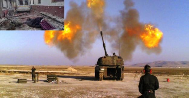 TSK, Afrin'deki hastaneye saldıran terör örgütü PKK/YPG'ye ait hedefleri vuruyor