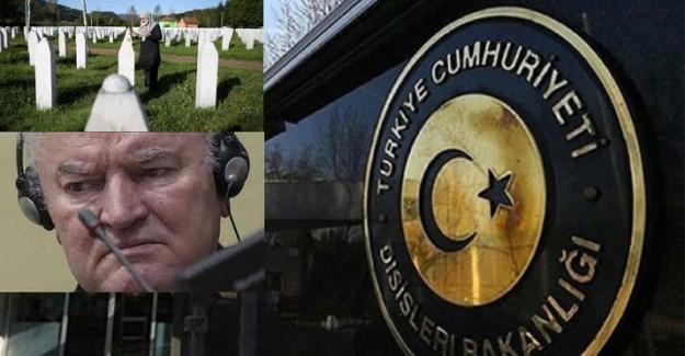 Türkiye, Bosna kasabı Mladiç hakkında alınan mahkeme kararından memnun