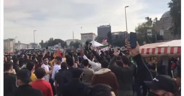 Yüzlerce kişi toplandı, ÖSO bayrağı açtı, polis ihbarla öğrendi