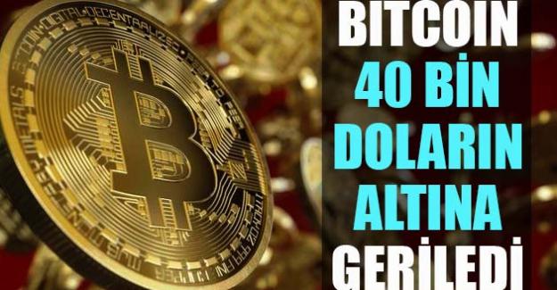 Kripto para Bitcoin 40 bin doların altına geriledi