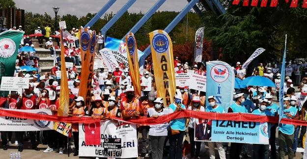 Aile Hekimleri Ankara'da bir eylem daha yaptılar