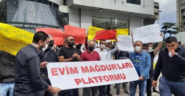 'Evim' mağdurlarından TMSF önünde eylem