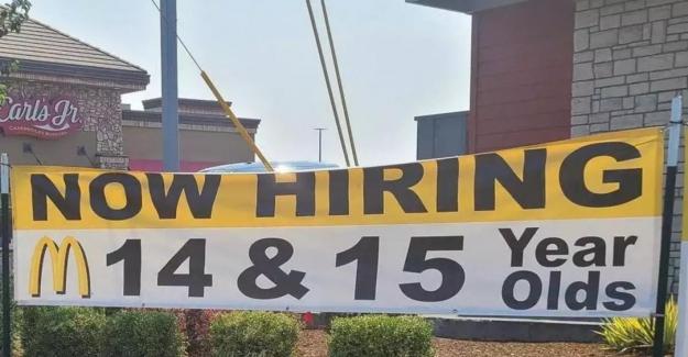 McDonald's zora düşünce çocukları işe almaya başladı