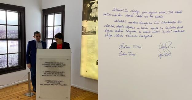 BioNTech'in Türk kurucuları Türeci ve Şahin, Selanik'te Atatürk Evi'ni ziyaret etti