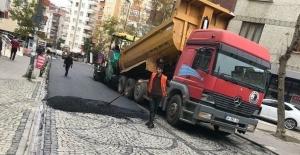 Kartal'da tepki çeken asfalt çalışması sosyal medyayı salladı