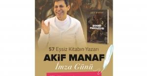 Yazar Akif Manaf Tüyap Kitap Fuarında okuyucularıyla buluşuyor