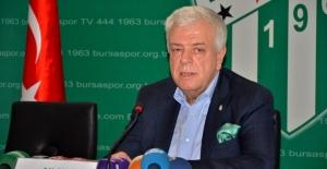 """Bursaspor Başkanı Ali Ay: """"Hedefimiz ilk 10 içerisinde olmak"""""""