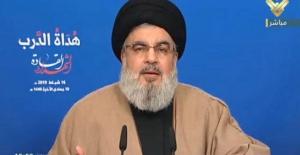 """Nasrullah: """"IŞİD Washington Ürünüdür. Suriye Ordusu müttefiklerinin desteğiyle bölgeleri kurtardı"""""""