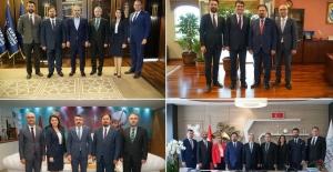 Bursa Barosu Başkan ve Yöneticilerinden belediye başkanlarına ziyaret