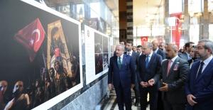 """""""Foto Muhabirlerinin gözü ile 15 Temmuz"""" sergisi Türkiye Büyük Millet Meclisi'nde açıldı"""