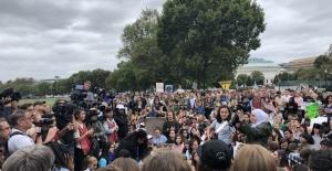 İklim aktivisti Greta'dan Beyaz Saray önünde protesto