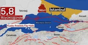 """İstanbul'da yine bir Deprem """"Büyüklük 5,8"""""""