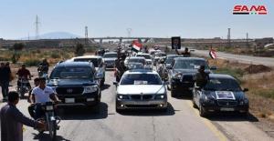 Suriye'nin bazı bölgelerinde vatandaşların eve dönüşleri devam ediyor