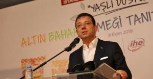 """Başkan İmamoğlu """"ALTIN BAHAR"""" ekmeğini tanıttı"""