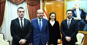 """""""Baba Parası"""" Filmini K. Kıbrıs Başbakanı ile izlediler"""