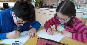 Nilüfer'de çocuklara uzaktan karikatür eğitimi