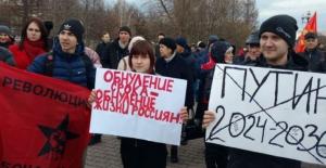 Rusya'da Anayasa değişikliklerine karşı protestolar