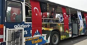 Başkent Ankara'da 23 Nisan coşkusu gezici araçlarla evlere taşınıyor..