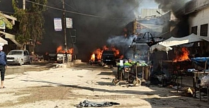 """Suriye Afrin'de PKK/YPG'nin bombalı araç saldırısı!.. """"11'i çocuk 40 kişi hayatını kaybetti"""""""