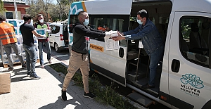 Nilüfer'de erzak desteği hafta sonunda da devam ediyor