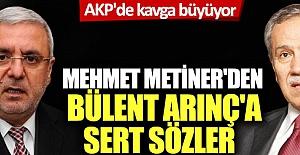 AKP'de kavga büyüyor: Mehmet Metiner'den Bülent Arınç'a sert sözler!