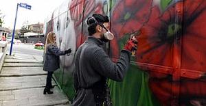 Başkentin gri duvarları Ressamların dokunuşlarıyla artık rengarenk