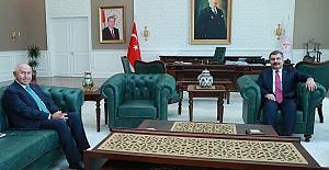 Sağlık Bakanı Koca TFF Başkanı Özdemir ile görüştü
