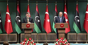"""Erdoğan ve Serrac'tan müşterek açıklama: """"Libyalı kardeşlerimizi asla darbecilerin ve lejyonerlerin insafına bırakmayacağız"""""""
