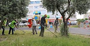 Mudanya'da yaz temizliği devam ediyor