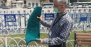 Ayasofya Cami'nin Halıları Döşenmeye Başlandı