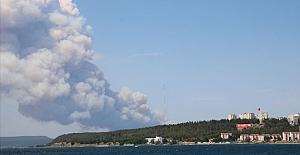 Çanakkale Gelibolu'da yangın!.. Şiddetli poyrazla yayılıyor