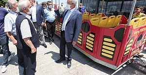 Gölyazı'da gezi treni keyfi başlıyor