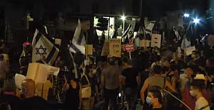 Kudüs'te Netanyahu'ya karşı 2.000 kişilik miting; 8 aşırı sağ protestocu tutuklandı