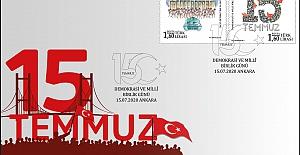 """PTT'den """"15 TEMMUZ DEMOKRASİ VE MİLLİ BİRLİK GÜNÜ"""" konulu özel zarf"""