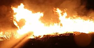 Bursa Ovaakça bölgesinde çıkan yangın yoğun çalışmayla söndürüldü