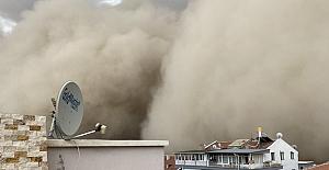 """Polatlı'da korkutucu """"Kum Fırtınası"""""""